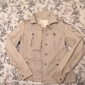 Khaki American Eagle Military Jacket